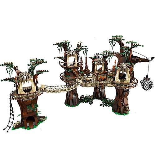 aolongwl Bloques de construcción Nuevo Starplan Wars Compatible 10236 Ewok Village Wars Set Ladrillos De Bloques De Construcción Ladrillos para Niños Juguetes Regalos De Cumpleaños