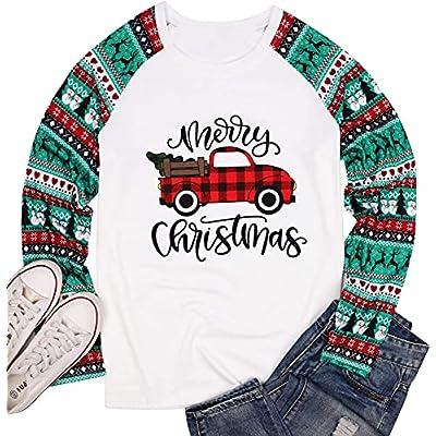 TTwenties Women's Merry Christmas Shirt Fas...