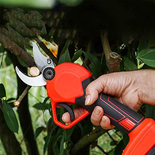TZUTOGETHER Tijeras eléctricas para Cortar Ramas,36V 2 batería, 30mm Tijeras de podar eléctricas sin Cuerda del jardín,Recortadora de arbustos de árboles frutales,Diseño ergonómico