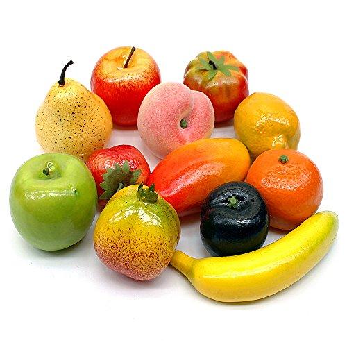 TGG Früchte Mix, 12 Stück Sortiment künstlich, Deko Obst/Nice Price !!!