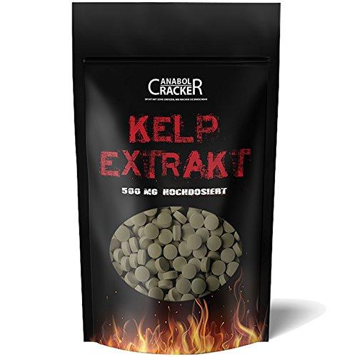 500 Tabletten - Kelp Extrakt, 500mg Kelp mit 150mcg Jod/Tablette, für Veganer geeignet, natürliche Quelle für Jod - Sea Algen - Entgiftung