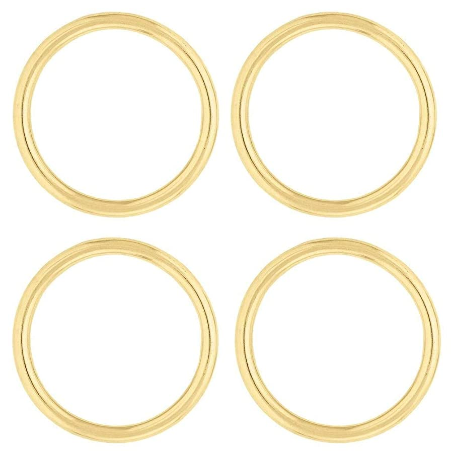 Multi-Pack of Heavy Duty Solid Brass Rings, Great for Making Bags, Halters, Breast Collars, Tack (Solid Brass, 2