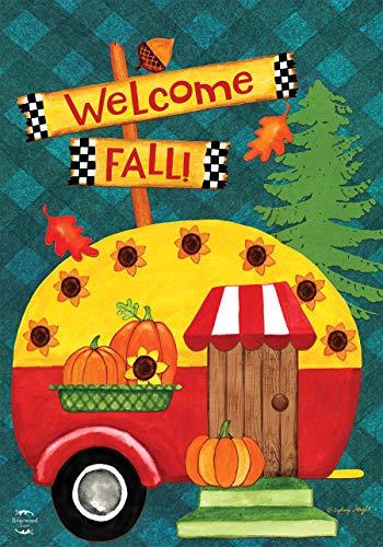 Briarwood Lane Welcome Fall Camper House Flag Primitive Autumn Humor 28' x 40'