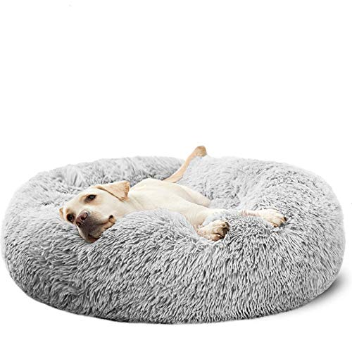 HACHIKITTY Dog Beds Calming Donut Cuddler, Puppy...
