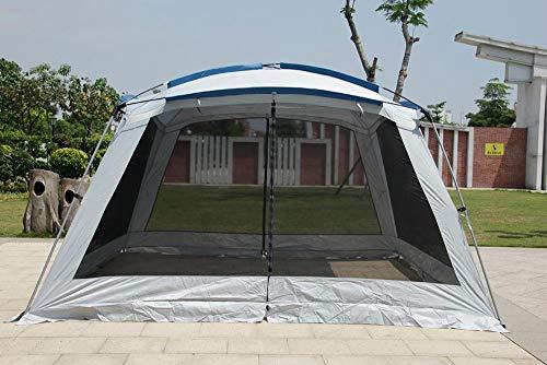 BOOSSONGKANG Tienda, 2020 Ultralarge 5-8 Person Double Layer 365 * 365 * 210CM Tienda, de Fiesta Gazebo Grande Refugio de Sol con mosquitera Tienda, d