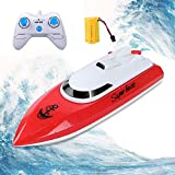 KINGBOT RC Boat, Remote Control Boat for Pools & Lakes 2.4GHz 10KM/H High