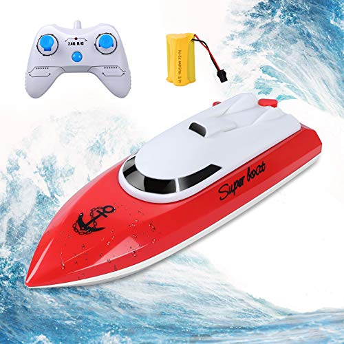 KINGBOT RC Boat, Remote Control Boat for Pools & Lakes 2.4GHz 10KM/H High...