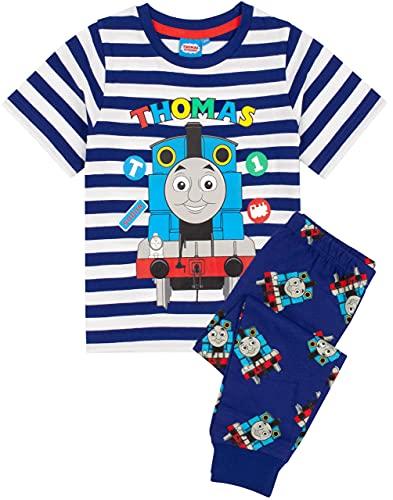Thomas & Friends Pijamas Niños Trenes Camisa con Fondos Largos o Cortos (Pierna Larga, 3-4 años)