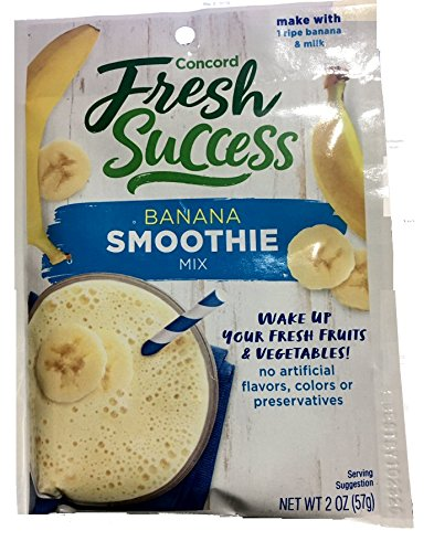 Concord Foods Banana Smoothie Mix 2 oz Pouch (VALUE Pack of 18 Pouches) (Best Banana Cream Pie Recipe Paula Deen)