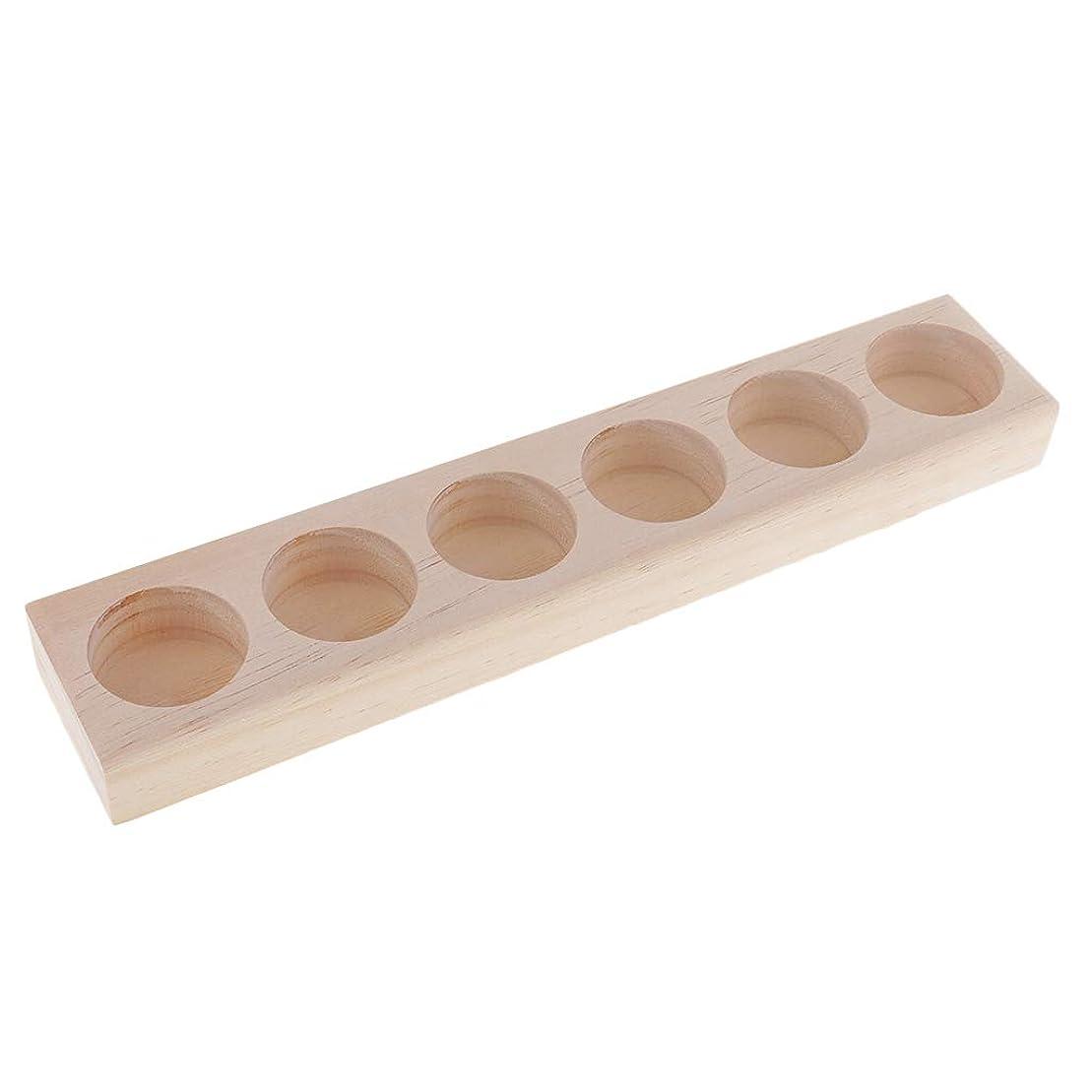 貸し手動的予知Fenteer エッセンシャルオイル 収納ラック 木製 精油 オーガナイザー ジュエリー 化粧品 収納用品