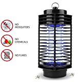 Muhoop Electronic Bug Zapper Mosquito Killer lamp Insect Trap Fly Insect Killer Lamp Indoor and Outdoor Use Portable Standing or Hanging