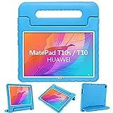 GOZOPO Funda para niños compatible con Huawei MatePad T10S/T10 2020 – Funda a prueba de golpes con soporte para Huawei MatePad T10S/T10 Case (azul)