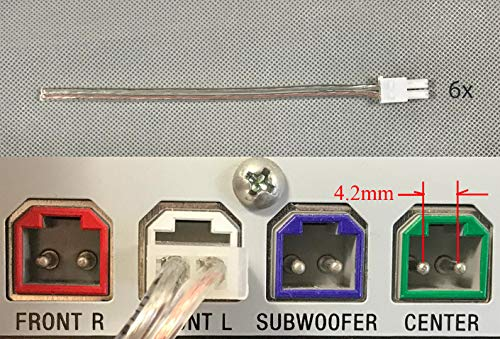 4.2mm Home Theater Speaker Wire Connectors(plugs) for select Sony Samsung Pioneer Toshiba etc. 6 PCs, 6 inch/each;