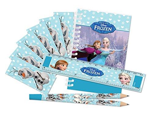 Disney Amscan International Kit de 20 Articles de Papeterie thème la Reine des neiges