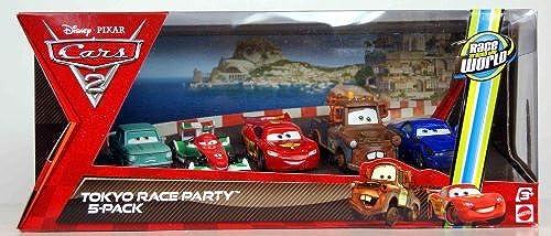 precios bajos Disney     Pixar CARS 2 Movie Exclusive Die Cast Car 5Pack Tokyo Race Party A Trunkov, Francesco Bernoulli, Lightning McQueen, Wasabi Mater Rod Torque rojoline by Disney  tienda en linea