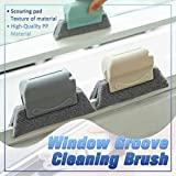 QeaotenV Window Groove Cleaning Brush Sill Gap Scrub Brushes Household, Utility Brush Scrub Brush, Creative Door Window Cleaning Tool, Grip Crevice Gap Corner Multipurpose Clean Tools