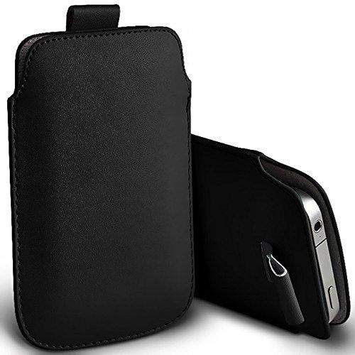 Digi Pig - Funda de piel sintética para Sony Xperia E1, color negro