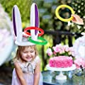 piokikio Inflatable Rabbit Ears Tossing Rings Toys Throwing Game Party Gift Pool Rafts & Inflatable Ride-ons