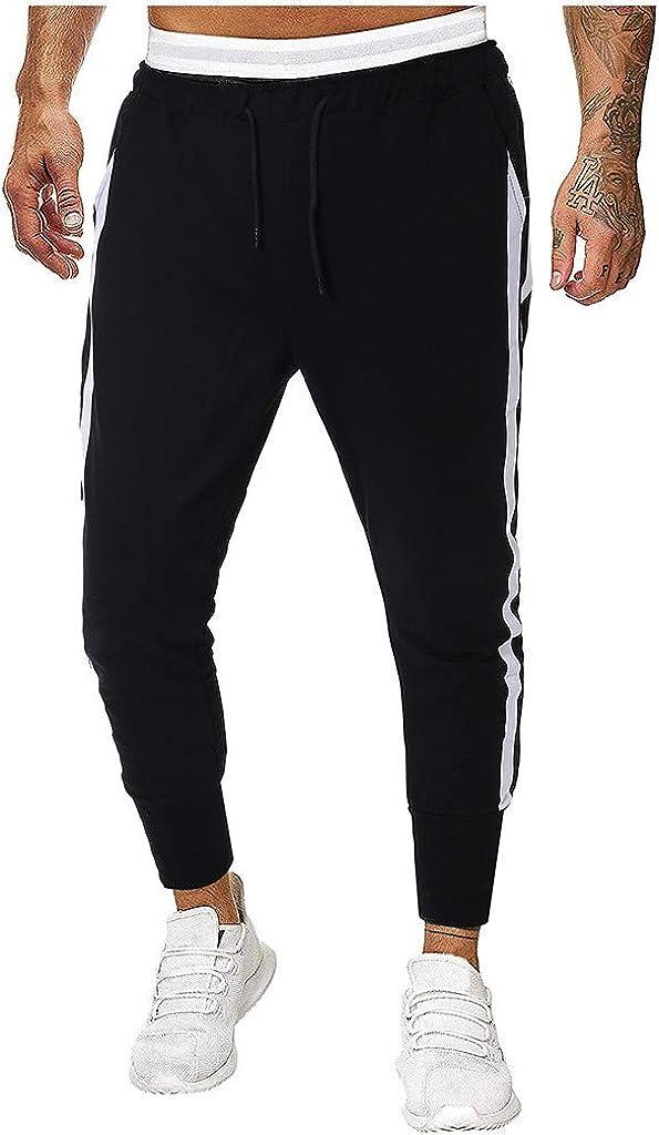 IHGTZS Shorts for Men, Men Splicing Pure Color Overalls Casual Pocket Sport Work Casual Trouser Pants