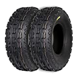 Weize Set of 2 Sport ATV Tire 22x7-10, 22-7-10 22x7x10 Front UTV Tire, 4PLY