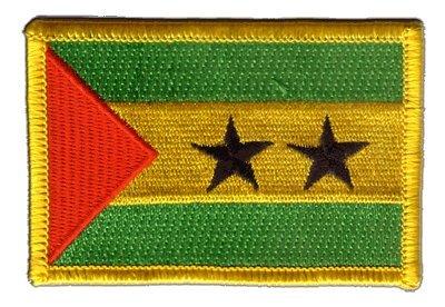 Aufnäher Patch Flagge Sao Tome & Principe - 8 x 6 cm