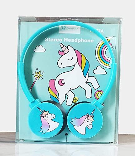 Prezzie Villa Unicorn Wired Over the Ear Headphone with Mic (Multicolour)