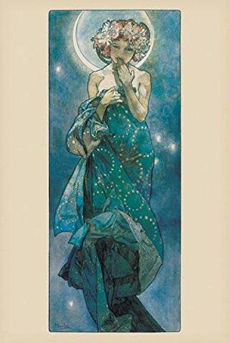 1art1 Alphonse Mucha - Der Mond, 1902 Poster 91 x 61 cm