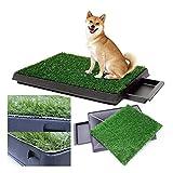 KCHEX Dog Potty Training Pee Turf Grass Pad Indoor Pet Patch 25x20x2.5 Mat Trainer