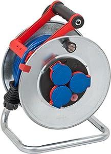 Brennenstuhl 25m AT-N05V3V3-F3G1,5 3AC outlet(s) 25m Multicolor base múltiple - Bases múltiples (25 m, 3 salidas AC, IP44, Multicolor, Azul, 1 pieza(s))