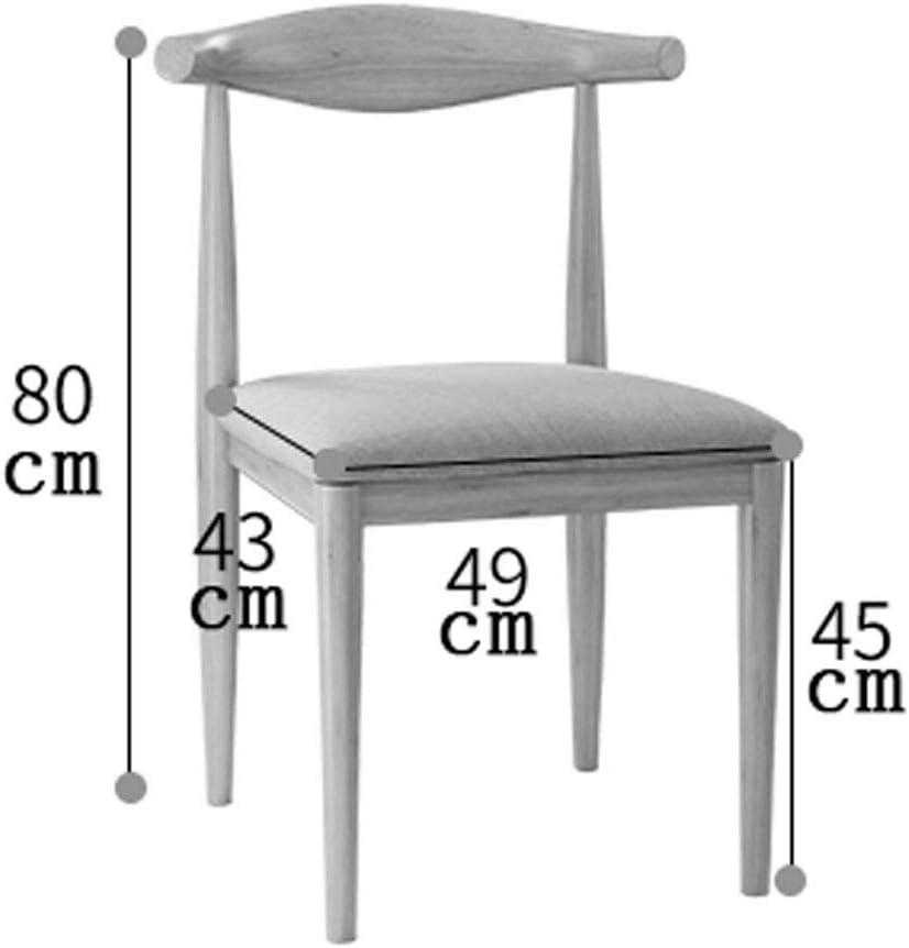 WDX- Chaise minimaliste moderne Accueil Chaise de dossier Chaise de salle à manger Chaise Café mode (Color : C) D