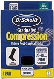 Dr. Scholl's 1 Pack Open Toe Surgical Microfiber Firm Socks Sockshosiery, Black, Women's Shoe Size 12-13.5, Men's Shoe Size 10.5-12 (Large)