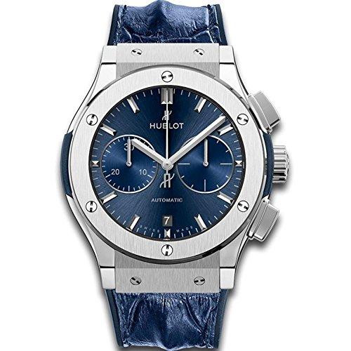 Hublot Classic Fusion automatico titanio cronografo, 'Blue Sunburst'...