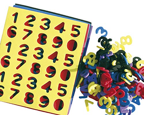EDUPLAY 200043 Moosgummi Zahlen, Mehrfarbig