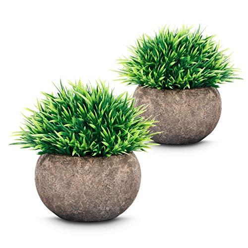 2 Stuks Nep Plant Voor Badkamer/Kantoor Aan Huis Decor, Kleine Kunstmatige Faux Groen Voor Huis Decoraties (potplanten)