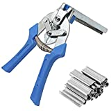 Clamp Hog Ring Pliers, Hog Ring Plier Tool with 600pcs M Clips Hog Ring Upholstery Installation Repair Hand Tools,for Animal Pet Cages, Fencing, Railing Pliers