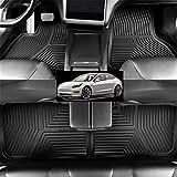 Rutschfester Silikon Fußmatte Auto Für Das Modell S 2017-2020 Auto Bodenbeläge Allwetter Rutschfester Geruchloser Innenausstattung Für Linkslenker