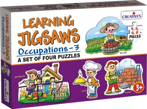 Creative Educational Creative puzzels beroepen - 3 Leristzaag
