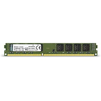 Kingston Technology ValueRAM Memoria, 1333 MHz, DDR3, Non-ECC, CL9, DIMM, 240-pin, 1.5 V, 8 GB