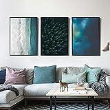 Carteles e impresiones de paisajes forestales nórdicos Imágenes de pared de paisaje marino del Caribe 51x71cmx3 sin marco