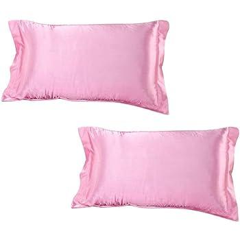 Satin 400 TC Pillow Cover (King_Pink)