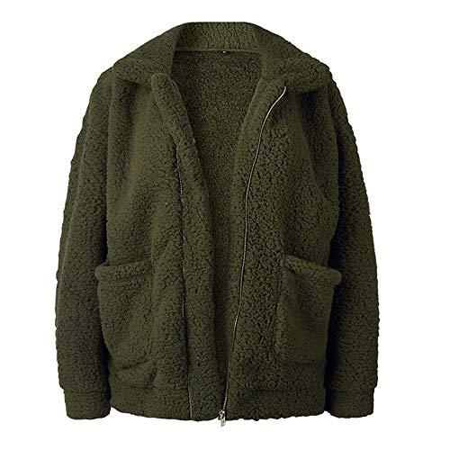 CLZC Plus Size Fleece Faux Shearling Fell jas jas Vrouwen herfst winter pluche warme dikke mantel vrouwelijke casual mantel