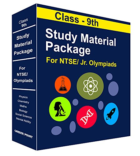 Class 9th - Foundation Study Package for NTSE, JEE & NEET (Vol-1) by Career Point Kota - Phy, Chem, Maths, Biology, English, Social Science & Mental Ability-2018-19