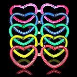 La Vida en Led 50 Gafas Luminosas Glow corazón