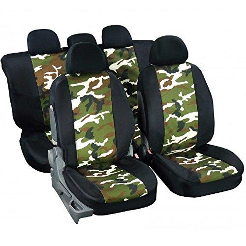 Lot de 2 Housses de protection pour si/ège avant auto express universelle decors camouflage chasse et p/êche