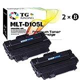 (2-Pack) TG Imaging Compatible D105L MLT-D105L Toner Carridge Use for Samsung SCX-4610K SCX-4623K CF-650 ML-1916K ML-2525K ML-2525 ML-2540 Printer