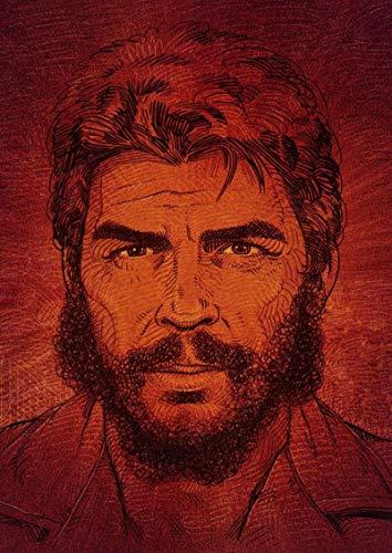 shuimanjinshan Póster Che Guevara Carteles de Pintura en Lienzo e Impresiones Imagen de Arte de Pared para la decoración del hogar de la Sala de Estar(JQ-1938) 40x50cm Sin Marco