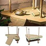Turtle Pier - Plataforma flotante para tortugas y reptiles, con rampa, escalera, acuario, decoración de peces, para pequeños reptiles y tortugas