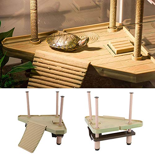 Turtle Pier Floating Turtle Aal Plattform Reptilien Terrapin Dock mit Rampe Leiter Aquarium Dekor für kleine Reptilien Tortoise Newt