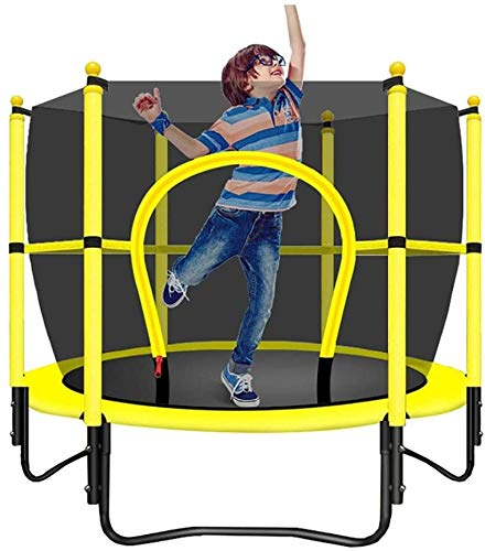 YAOJIA Indoor trampoline Trampoline with Safety Enclosure|Small indoor trampoline for children,5ft