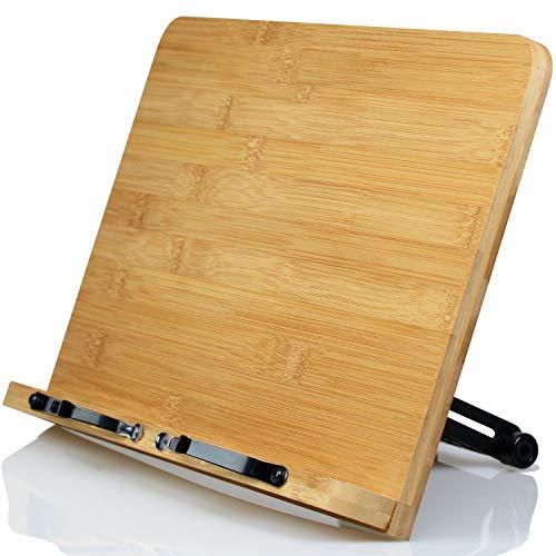 L.Y.F LAB ブックスタンド 書見台 本立て 読書台 選べる3サイズ 28×20cm 木製 竹製 9段階調整 卓上 勉強 おしゃれ コンパクト (28×20cm)